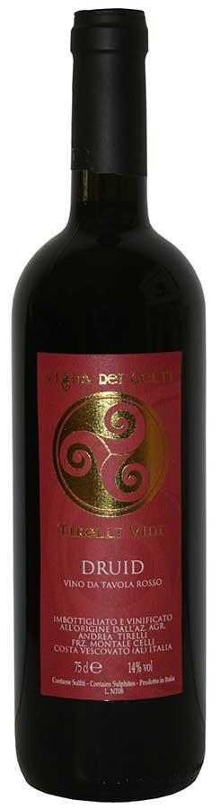 Bottiglia di Druid la freisa di Andrea Tirelli